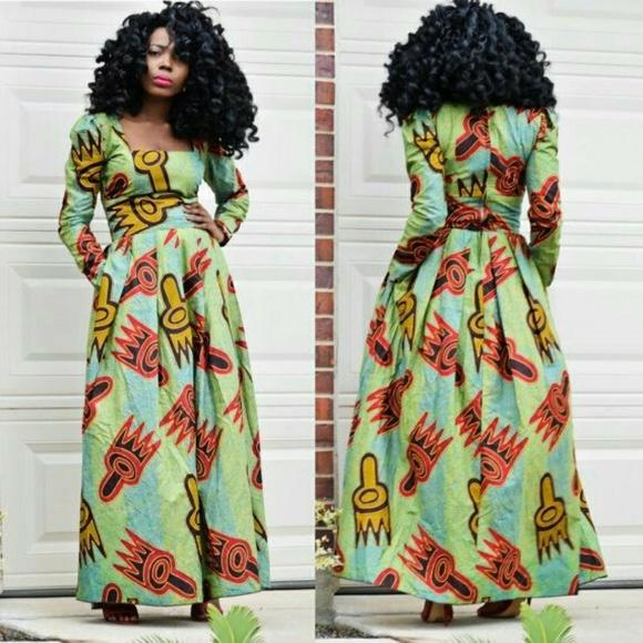 fd26fe7a2fca veroex Dresses | Women African Print Maxi Dress | Poshmark